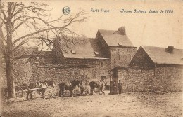 FORET - TROOZ : Ancen Chateau Datant De 1385 - RARE CPA - Belle Animation - Cachet De La Poste 1935 - Trooz