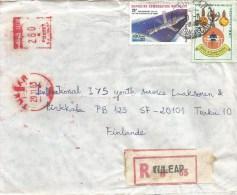 "Madagascar 1984 Tulear Meter Franking Satas ""J"" SJ 9496 EMA Space Station Handicapped Registered Cover - Madagaskar (1960-...)"