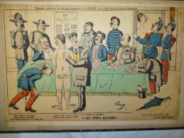 4 dessins comiques en couleurs de Lavrate (env. 1880)