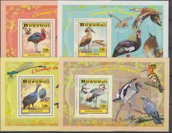 Burundi Waders-Echassiers-Steltlo Pers 2014 - 4 Sheets MNH - 2010-..: Nuovi