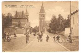 BOURG-LEOPOLD   --- Eglise Et La Poste  --  Kerk En Het Postkantoor - Leopoldsburg