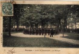 Bourges Jardin De L'archeveché La Musique - Bourges