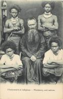 - Ref D384 -papouasie Nouvelle Guinee - Missionnaire Et Indigenes - Missionary And Natives - Carte Bon Etat - - Papua New Guinea