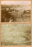 CHATEAU DU LOIR (72) Deux Anciennes Photographies Construction Du Réservoir - Chateau Du Loir