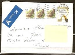 BELGIQUE  -   2002   .   Belle Lettre Pour La France.     Timbres  -  Journée Du Timbre  /  Ecriture  /  Oiseaux - Belgique