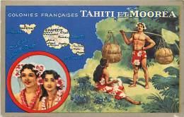 - Ref D374 - Tahiti  Et Morea - Carte Publicitaire Lion Noir - Serie Colonies Françaises -  Carte Bon Etat - - Tahiti