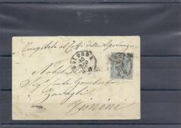140018695  LOMBARDO-VENETTO    YVERT  Nº  18  CARTA - 1861-78 Victor Emmanuel II