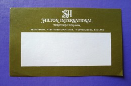 HOTEL PENSION HILTON PARK LANE AVON LONDON UK ENGLAND GREAT BRITAIN STICKER DECAL LUGGAGE LABEL ETIQUETTE AUFKLEBER - Hotel Labels