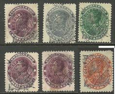 VENEZUELA 1900 Revenue Stamps S. Bolivar 6 Stamps From Set Michel 64 - 71 O - Venezuela