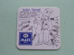 KOKO FLANEL Maes Pils ( U.) ( Sous Bock / Coaster / Onderlegger ) Zie Foto´s Voor Detail ! - Beer Mats