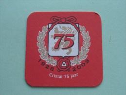 CRISTAL 75 Jaar / 1928 - 2003 ( Sous Bock / Coaster / Onderlegger ) Zie Foto´s Voor Detail ! - Beer Mats