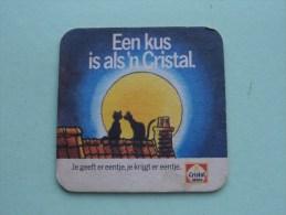 Een Kus Is Als 'n CRISTAL Vrije Radio's 1988 Limburg ( Sous Bock / Coaster / Onderlegger ) Zie Foto´s Voor Detail ! - Beer Mats
