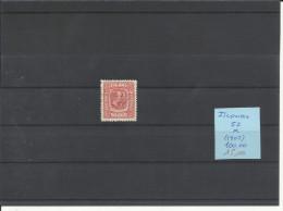 ISLANDIA  52    MH   *  ( PEQUEÑO DESCARNAMIENTO EN PAPEL) - 1873-1918 Dependencia Danesa