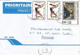 Madagascar 1998 Fort Dauphin Iceskating Olympic Games Albertville Manet Impressionism Cover - Madagaskar (1960-...)