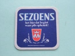 SEZOENS Het Bier Dat Begint Waar Pils.... Martens Bocholt ( Sous Bock / Coaster / Onderlegger ) Zie Foto´s Voor Detail ! - Beer Mats