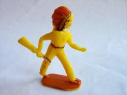 Figurine Publicitaire Prime MARQUE INCONNUE 60's Pas Starlux Clairet Jim Cyrnos Far West   Indien Fusil Main - Starlux