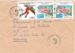 Madagascar 1990 Fenerive Est Ice Speedskating Olympic Games Calgary Fish Cover - Madagaskar (1960-...)