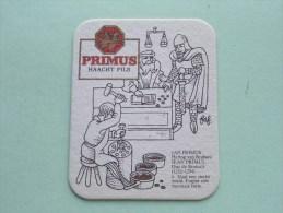 PRIMUS Haacht Pils Slaat Een Sterke Munt ( Sous Bock / Coaster / Onderlegger ) Zie Foto´s Voor Detail ! - Beer Mats