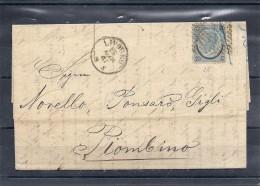 140018703  LOMBARDO-VENETTO    YVERT  Nº  25  CARTA - 1861-78 Victor Emmanuel II