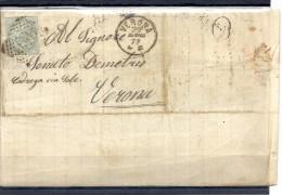 140018705  LOMBARDO-VENETTO    YVERT  Nº  16  CARTA - 1861-78 Victor Emmanuel II