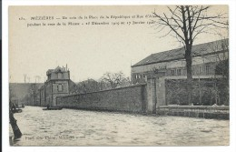 CPA -MEZIERES -PLACE REPUBLIQUE ET RUE ALSACE -PENDANT CRUE MEUSE -Dec. 1919, Jan. 1920 - - Other Municipalities