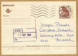 Carte Entier Postal Oiseau Buzin Bierbeek à Brussel - Postwaardestukken