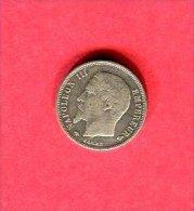 NAPOLEON III TETE NUE 1856 A      TB+  38 - Francia