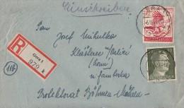 DR R-Brief Mif Minr.794, 906 Gera 6.12.44 Gel. Nach B&M - Deutschland