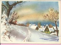 Happy New Year - Village Covered With Snow, 1964., Yugoslavia ( Džepna Knjiga ) - Anno Nuovo
