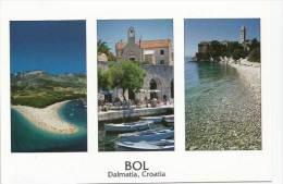île De Brač (village Et Plage De Bol)  Sun Stone & Sea.   Dalmatie. Carte Postale Neuve - Croacia