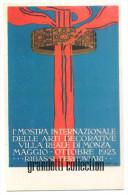 MONZA 1923 MOSTRA INTERNAZIONALE ARTI DECORATIVE CARTOLINA RIPRODUZIONE - Esposizioni