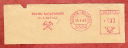 Ausschnitt, Absenderfreistempel, Techn Universitaet Clausthal, 190 Pfg, Clausthal-Zellerfeld 1986 (71753) - Covers & Documents