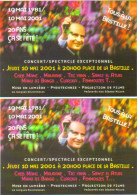 "2 Cartes Postales �dition ""Carte � Pub"" - Fran�ois Mitterrand - 10 mai 1981 / 10 mai 2001 - 20 ans �a se f�te !"