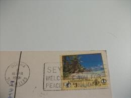 STORIA POSTALE FRANCOBOLLO COMMEMORATIVO Seychelles Anse Lazio Praslin Panorama - Seychelles