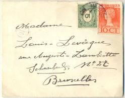 _Nx727:  N° 107+124: MAASTRICHT > Bruxelles Schaerbeek... - Lettres & Documents