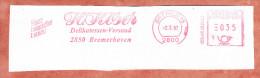 Ausschnitt, Absenderfreistempel, Koeser Delikatessen-Versand Bremerhaven, 35 Pfg, Bremen 1987 (71875) - Covers & Documents