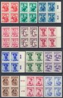 "�sterr.1948/52;kpl.Viererbl�cke ""Trachten I"" ANK Nr.887-923, MNH/**/ Postfrisch Einwandfrei"