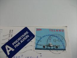 STORIA POSTALE FRANCOBOLLO COMMEMORATIVO Island Byggdasafnid I Skogum - Islanda