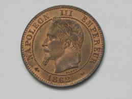2 Centimes Napoléon III 1862 K - Tête Laurée - Monnaie En SPL - !!!  ***** EN ACHAT IMMEDIAT **** - France