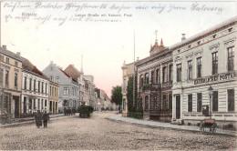 RIBNITZ Lange Straße Mit Kaiserlichem Postamt Belebt 20.6.1911 TOP-Erhaltung - Ribnitz-Damgarten