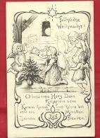 DVO2-03 Anges Pour Un Joyeux Noël, Fröhliche Weihnacht. JHS.  Cachet 1906 - Anges