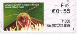 Ireland 2011 Post And Go Animals 55c Elephant Hawk Moth Good/fine Used Code 11350 - 1949-... Repubblica D'Irlanda