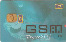 GSM sim card sample ice costa rica rare no die cut