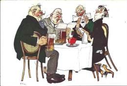 Illustrateur - G.U. Ehr - Humoristique - Les Amis Au Café - Illustrators & Photographers