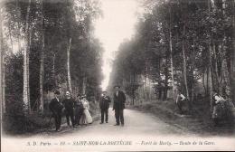 SAINT-NOM-LA-BRETÈCHE - Forêt De Marly - Route De La Gare (joliment Animé) - St. Nom La Breteche