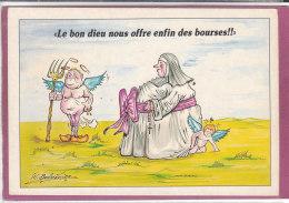 LE BON DIEU NOUS OFFRE ENFIN DES BOURSES  ( Illustrateur  H. Ballavoine ) - Humor
