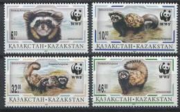 102 KAZAKHSTAN 1997 - Animaux Putois WWF - Neuf Sans Charniere (Yvert 124/27) - Kazakhstan