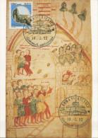ITALIA - FDC MAXIMUM CARD 1992 - CASTELLO DI ARECHI - SALERNO - MINIATURA DI PIETRO DA EBOLI - Maximumkarten (MC)