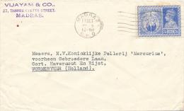 MADRAS - 1948 , Brief Nach WORMERVEEE / NL - 1947-49 Dominion