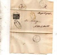 1888   LETTERA CON ANNULLO  OTTAGONALE  Corte De� Cortesi Con Cignone CREMONA